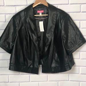 Isaac Mizrahi Live  Faux Leather Jacket Sz 26W